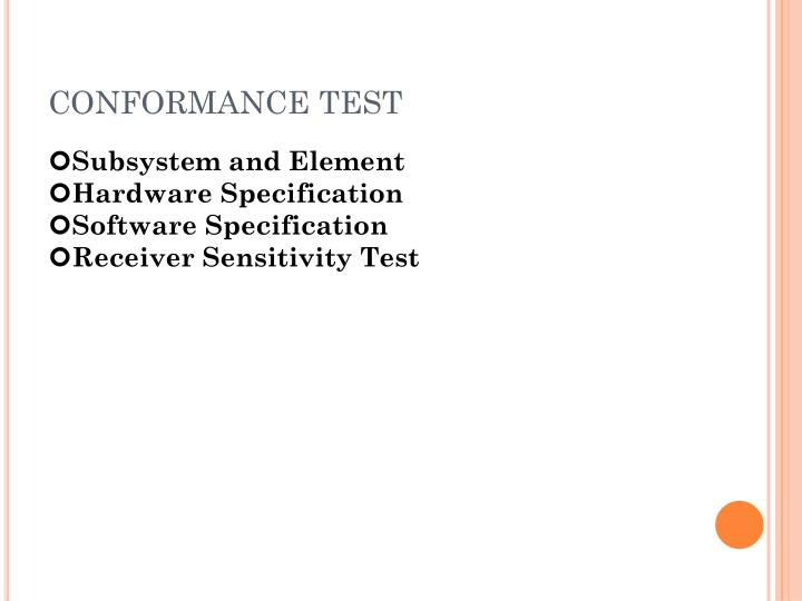 CONFORMANCE TEST