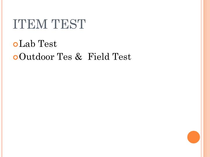 ITEM TEST