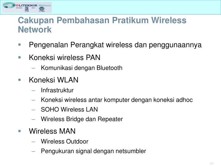 Cakupan Pembahasan Pratikum Wireless Network