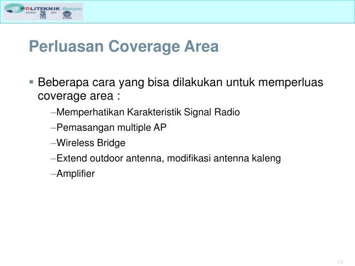 Perluasan Coverage Area