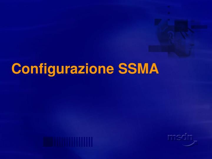 Configurazione SSMA