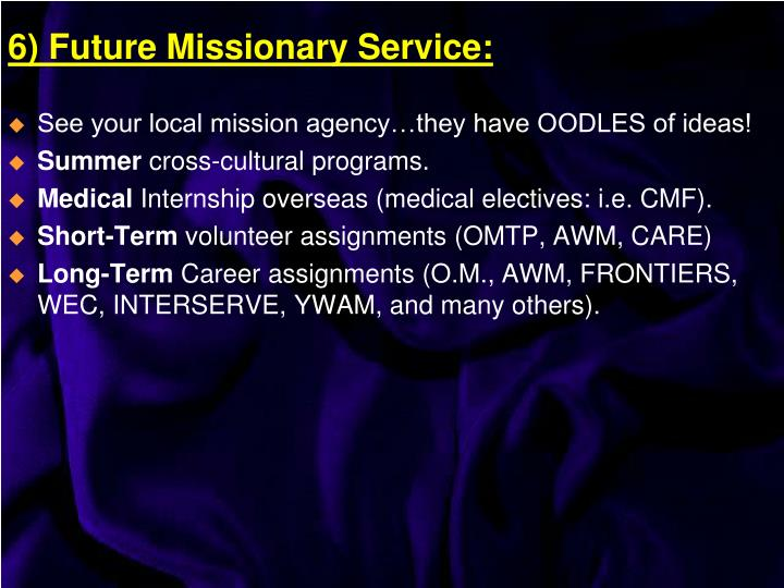 See your local mission agency…they have OODLES of ideas!