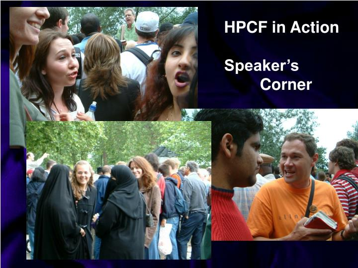 HPCF in Action