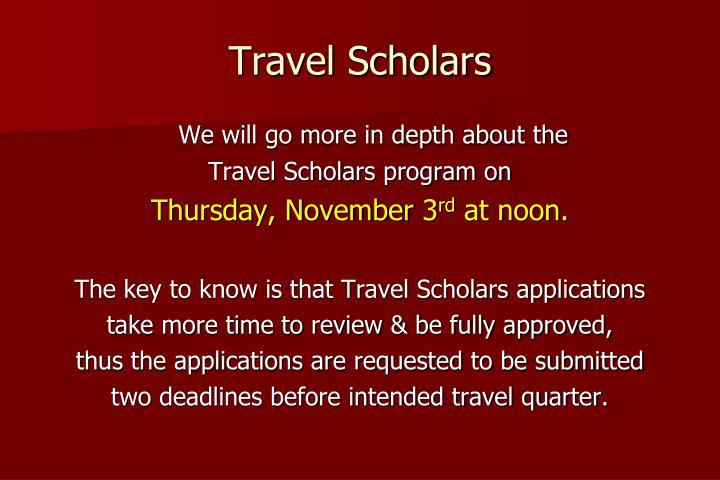 Travel Scholars