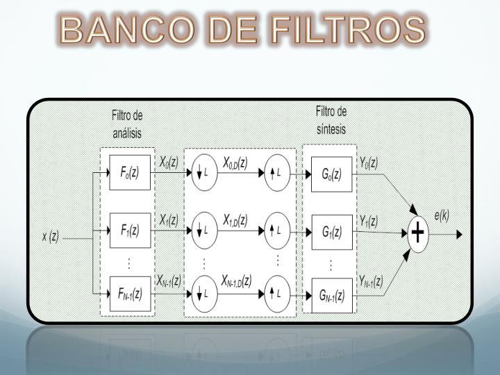 BANCO DE FILTROS