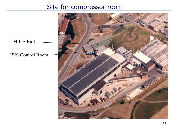 Site for compressor room
