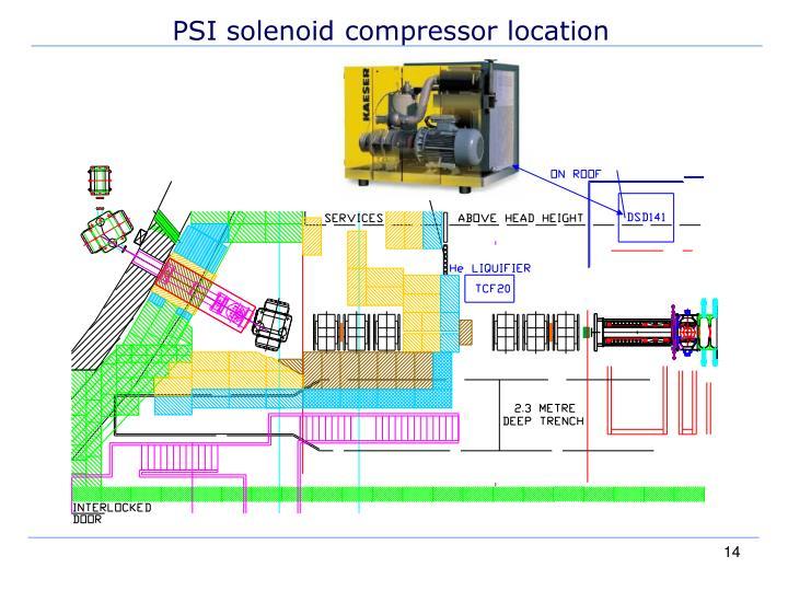 PSI solenoid compressor location