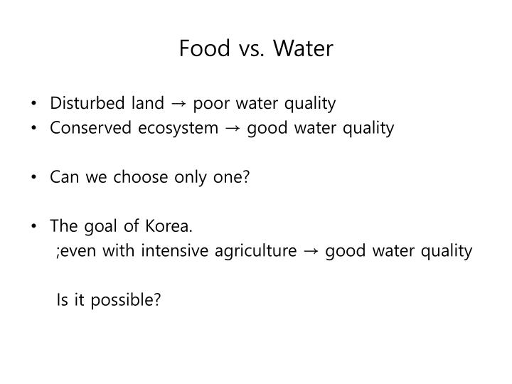 Food vs. Water