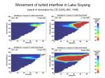movement of turbid interflow in lake soyang result of simulation by ce qual w2 1996