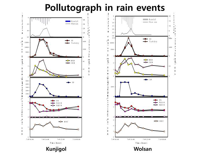 Pollutograph in rain events