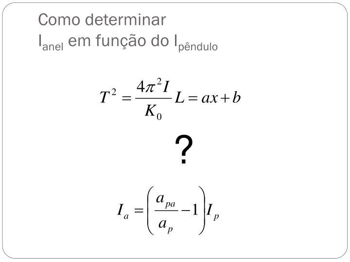 Como determinar
