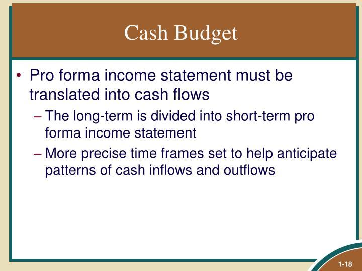 Cash Budget