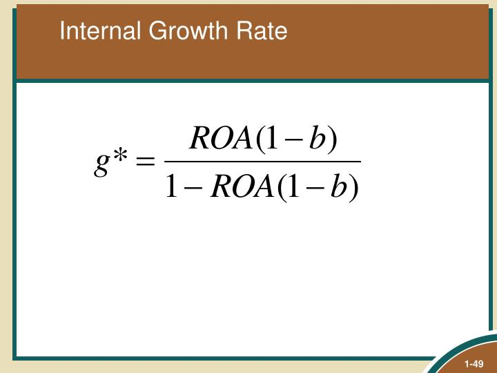 Internal Growth Rate