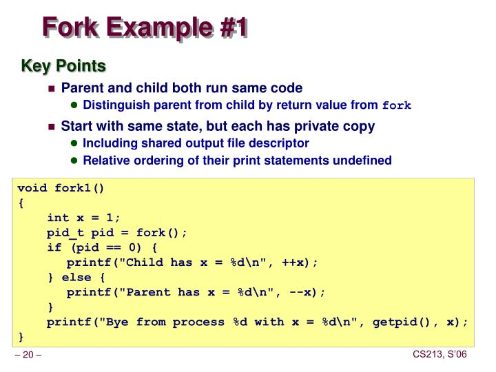 Fork Example #1