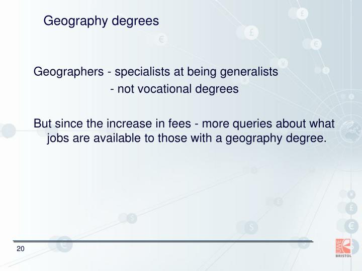 Geography degrees