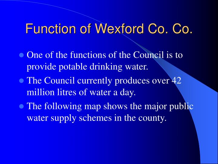 Function of wexford co co