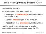 what is an operating system os