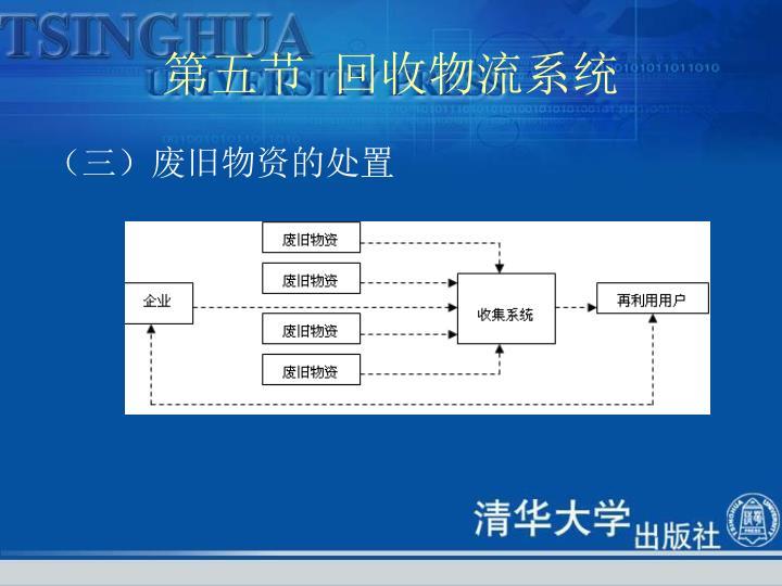 第五节  回收物流系统