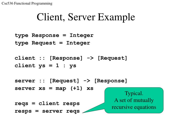 Client, Server Example