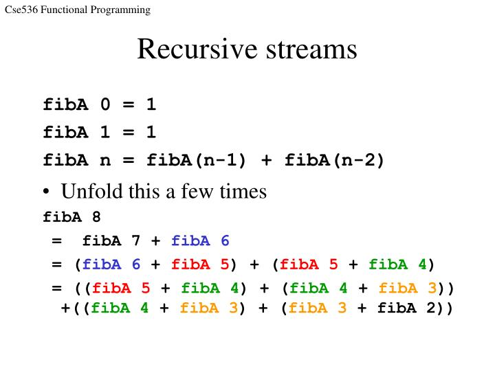 Recursive streams