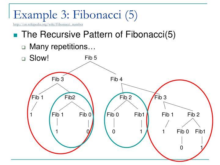 Example 3: Fibonacci (5)