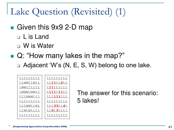 Lake Question (Revisited) (1)