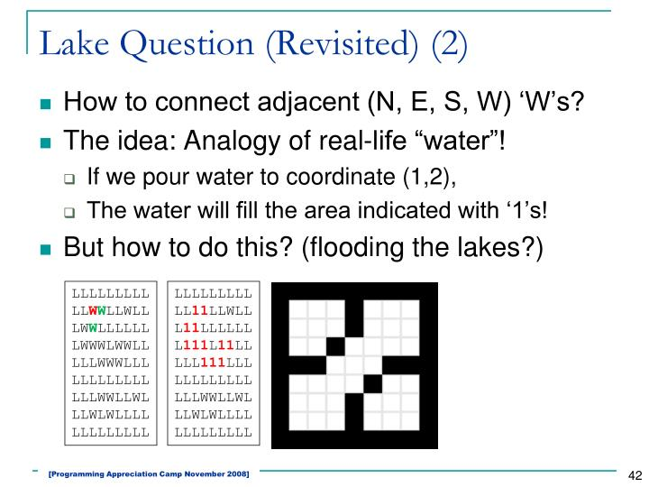 Lake Question (Revisited) (2)