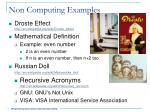 non computing examples