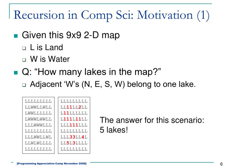 Recursion in Comp Sci: Motivation (1)