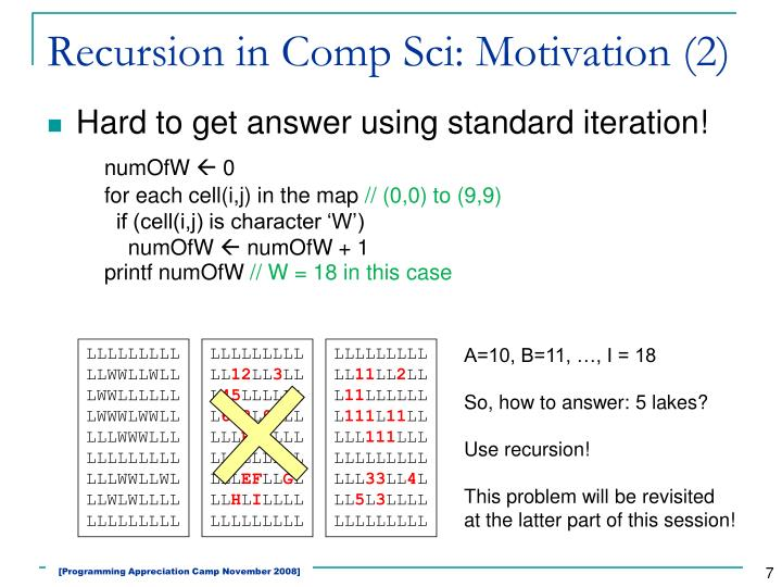 Recursion in Comp Sci: Motivation (2)