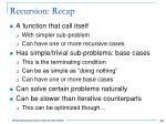 recursion recap