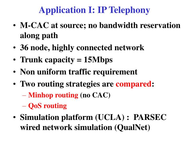 Application I: IP Telephony