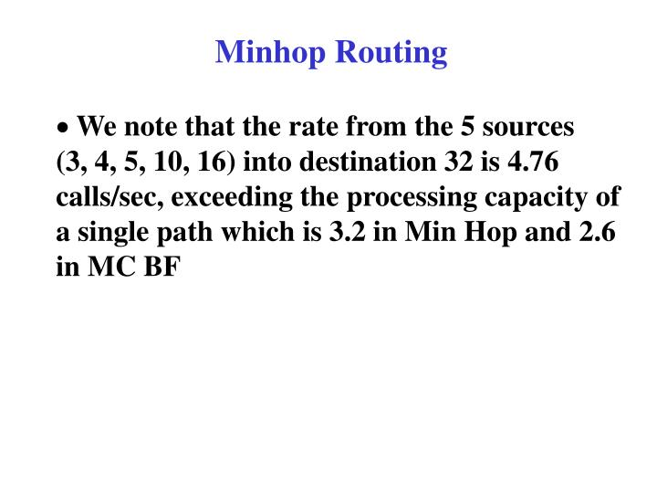 Minhop Routing