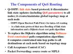 the components of qos routing