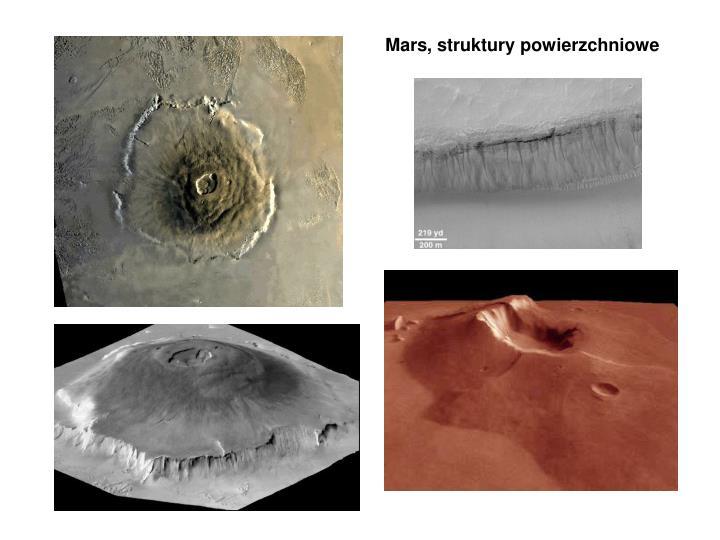 Mars, struktury powierzchniowe