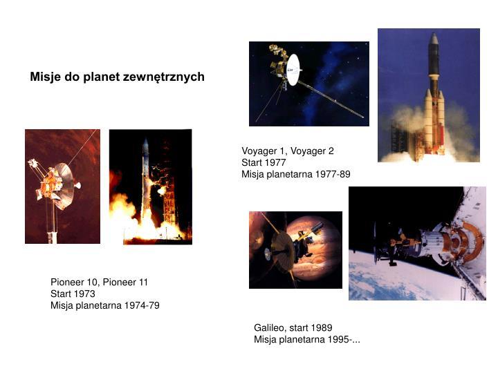 Misje do planet zewnętrznych