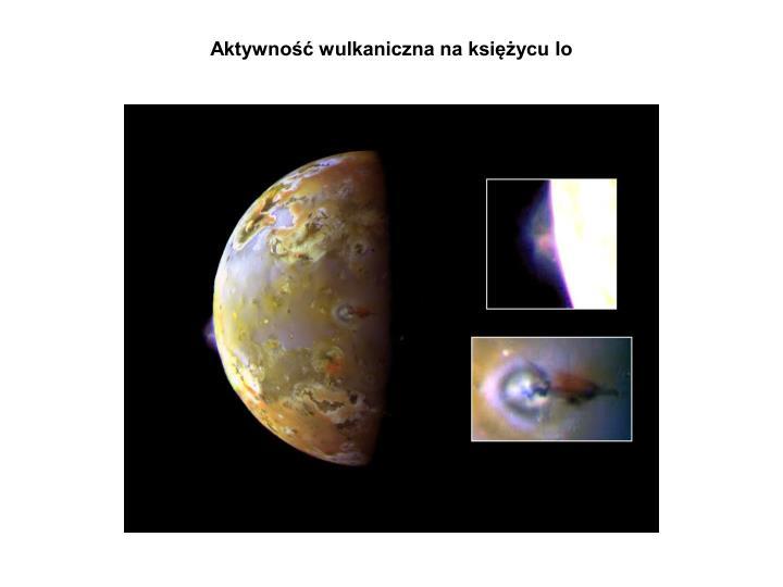 Aktywność wulkaniczna na księżycu Io