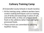 culinary training camp