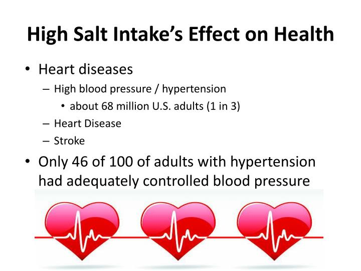 High Salt Intake's Effect on Health