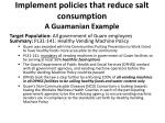 implement policies that reduce salt consumption a guamanian example