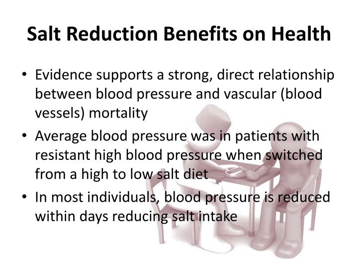 Salt Reduction Benefits on Health