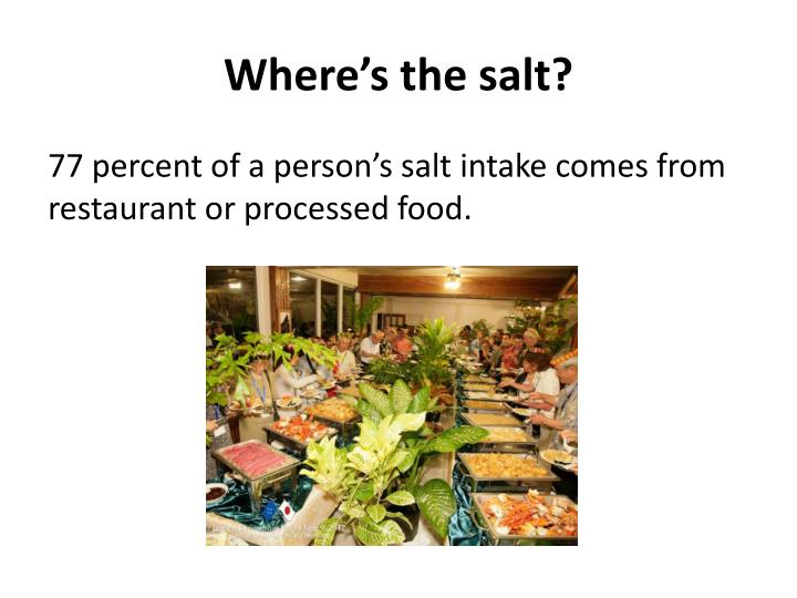 Where's the salt?