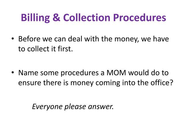 Billing & Collection Procedures