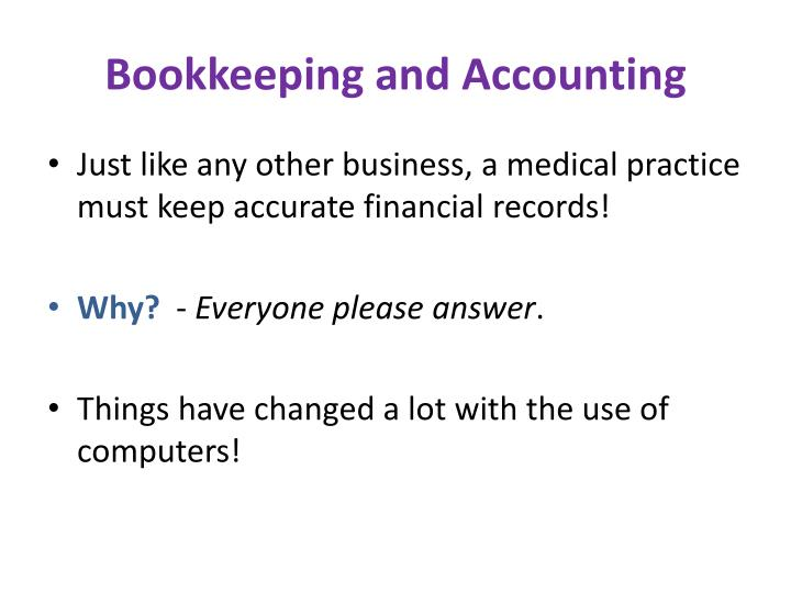 Bookkeeping and accounting1