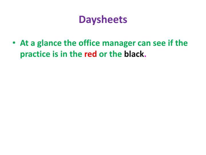 Daysheets