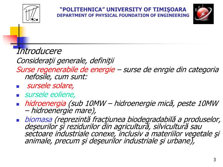 Politehnica university of timi oara department of physical foundation of engineering2