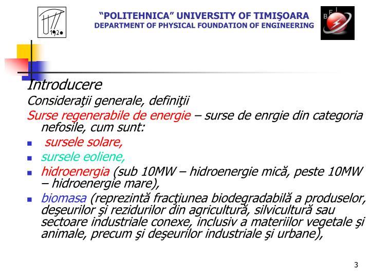 """""""POLITEHNICA"""" UNIVERSITY OF TIMI"""
