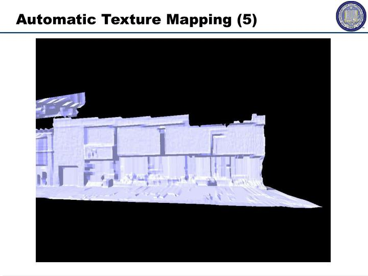 Automatic Texture Mapping	(5)