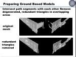 preparing ground based models