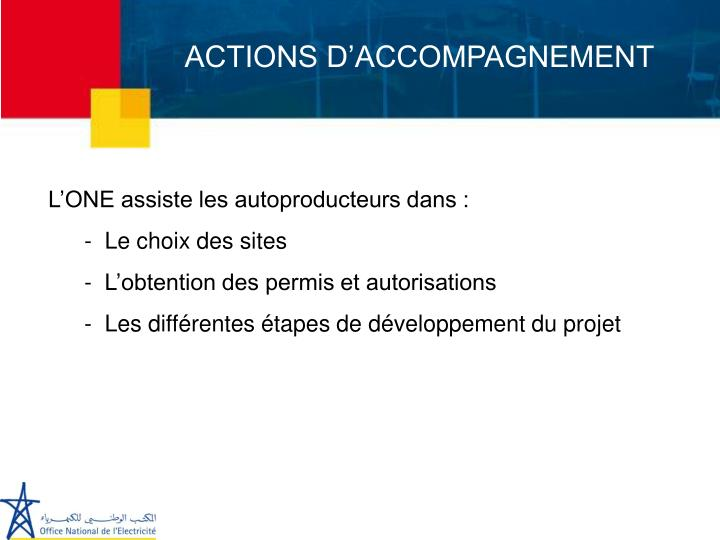 ACTIONS D'ACCOMPAGNEMENT